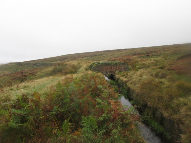 Footbridge over the catchwater below High Brown Knoll