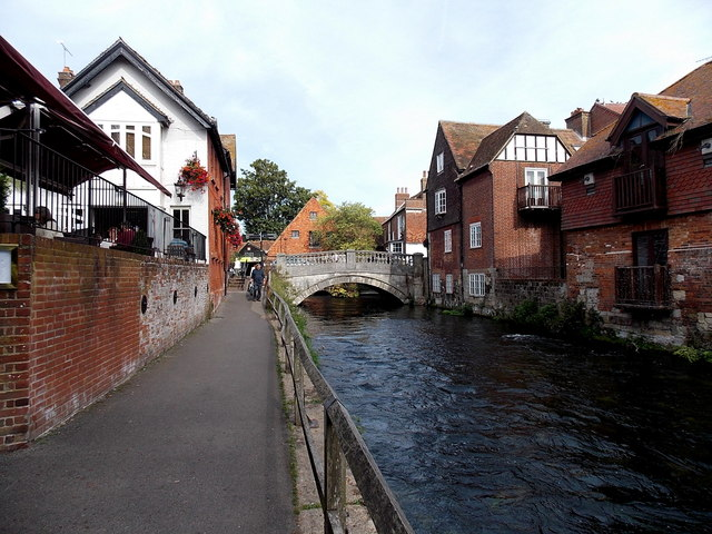 Riverside path in Winchester