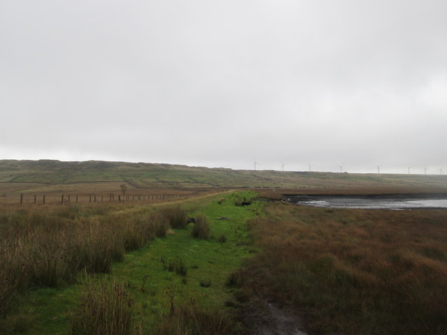 Northern edge of Warley Moor Reservoir