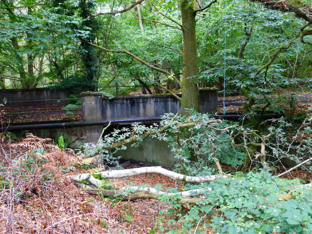 Looking from the bridleway to a bridge on the parallel track