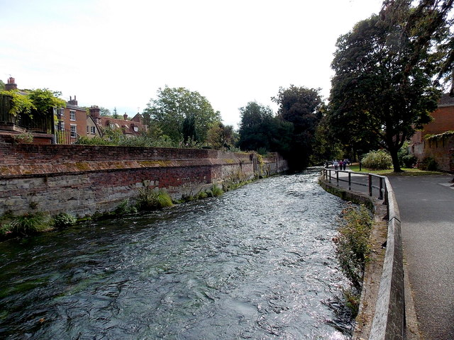 Itchen south of City Bridge, Winchester