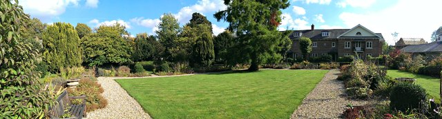 Panoramic view, Wye House Gardens, Marlborough
