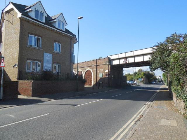 Rail Bridge over A283 at Shoreham