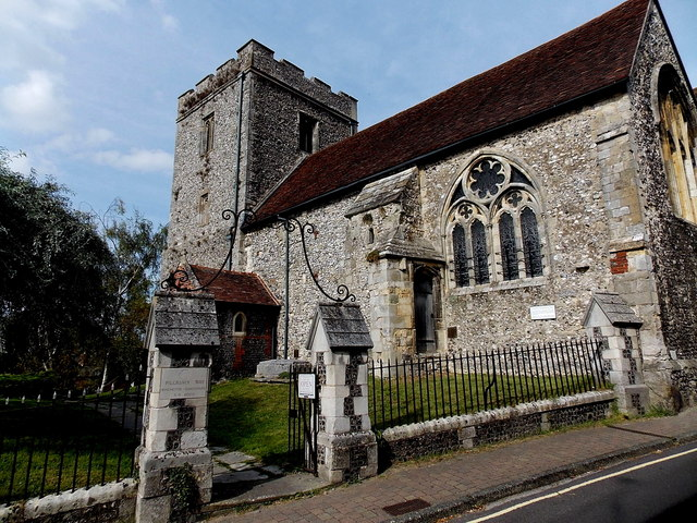 South side of St John the Baptist church, Winchester
