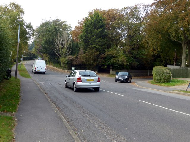 The junction of Mill Hill and Vicarage Lane