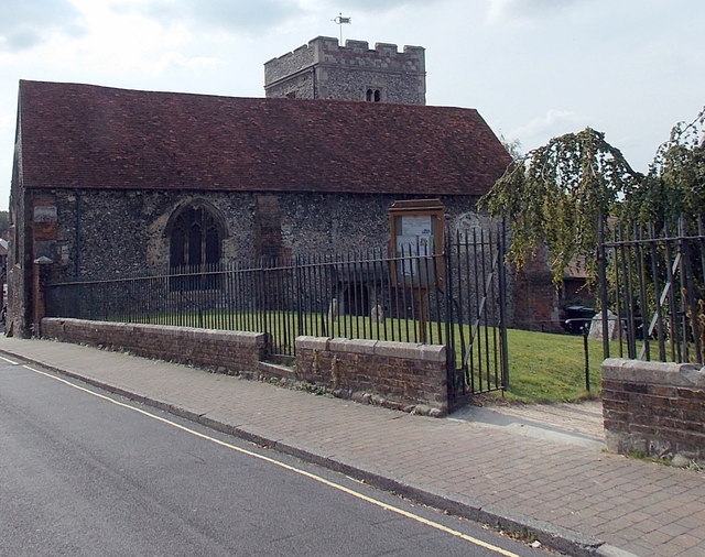 North side of St John the Baptist church, Winchester