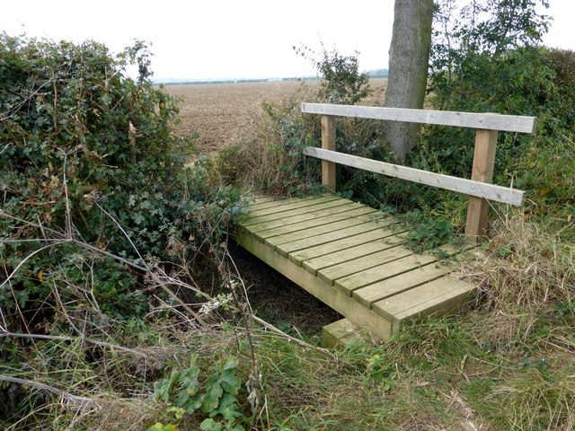 Footbridge over a field drain