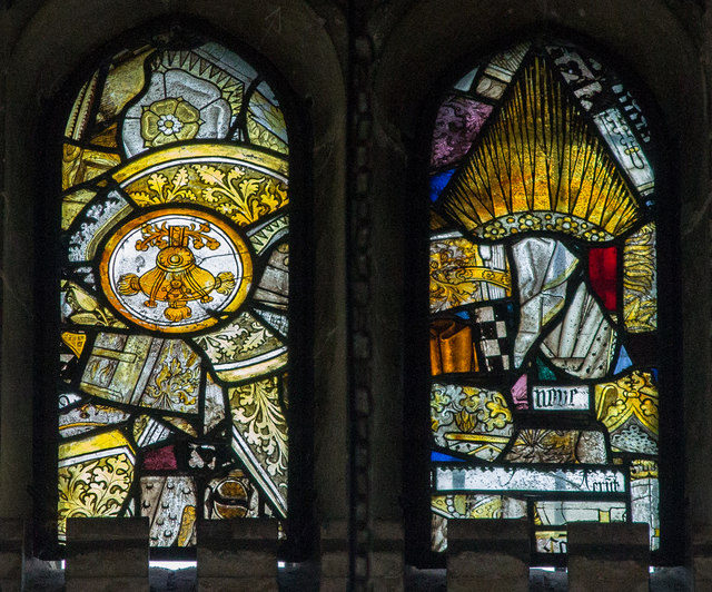 Stained glass window, Holy Trinity church, Tattershall