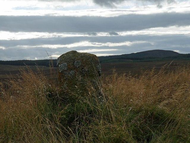 Marker stone, Muie Grazings, Sutherland