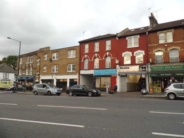 Shops on Wightman Road, Hornsey