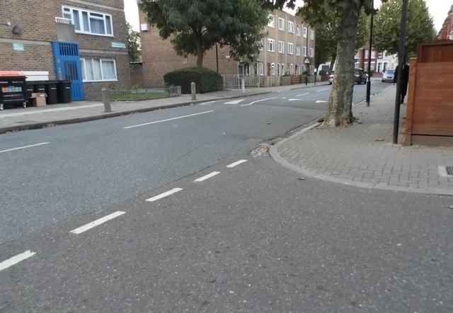 Kyverdale Road at the junction of Braydon Road