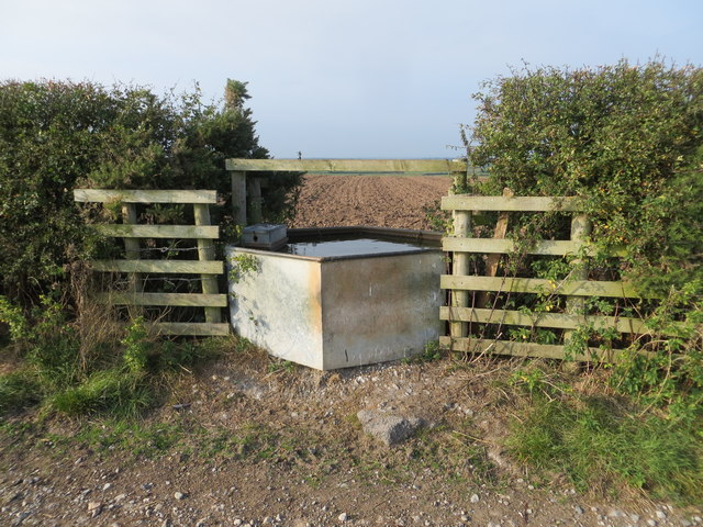 Water Trough providing water for two fields