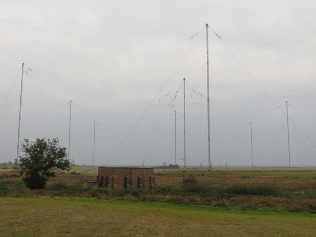 Building and Masts at Anthorn Radio Station