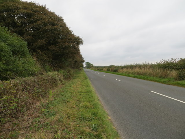 Road (B724) from Annan to Dumfries