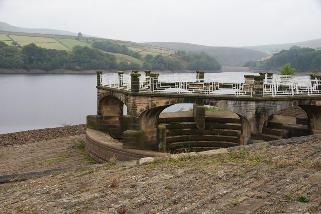 The outflow of Digley Reservoir