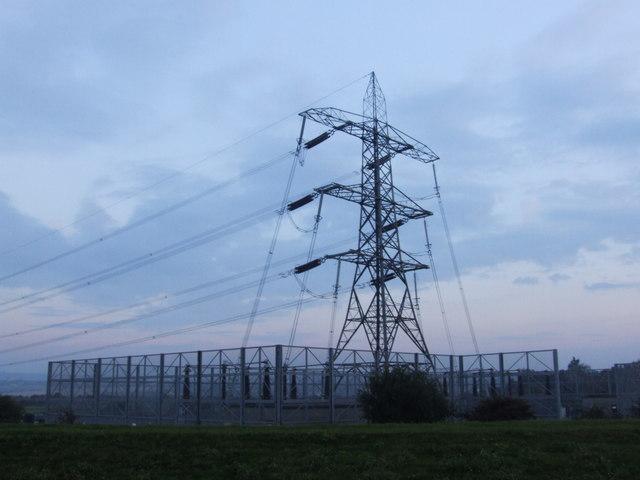 Power Line Terminal Tower, near Eastcourt Marshes