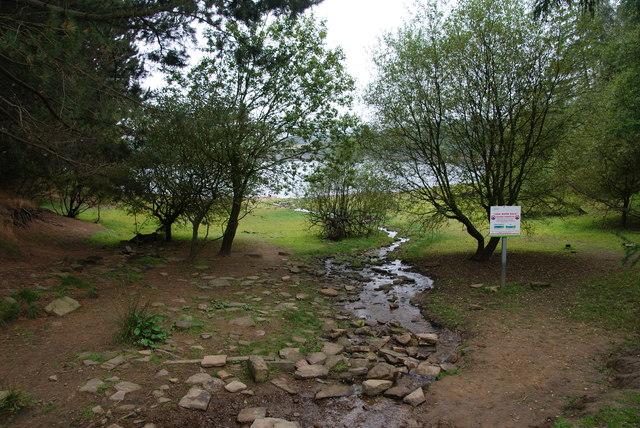 Water trickling towards Digley Reservoir