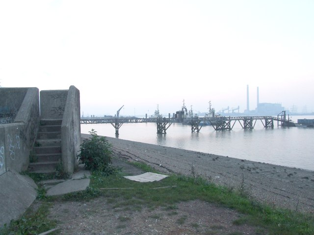 Industry on the Thames, near Gravesend