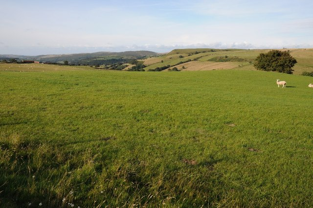 Farmland on the edge of the Denbigh Moors