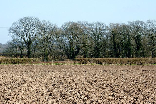 Ploughed field at Catstree, Shropshire