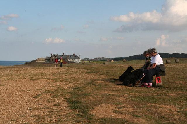 Walkers on Peddars Way east of Weybourne