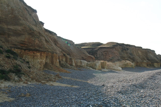 Cliff face at Weybourne Hope