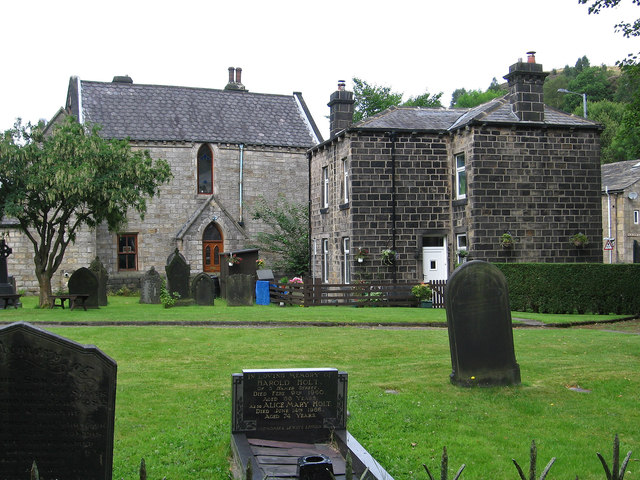 Cornholme - Vale Baptist Church yard