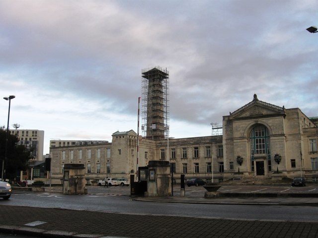 Repair works on Civic Centre Clock Tower