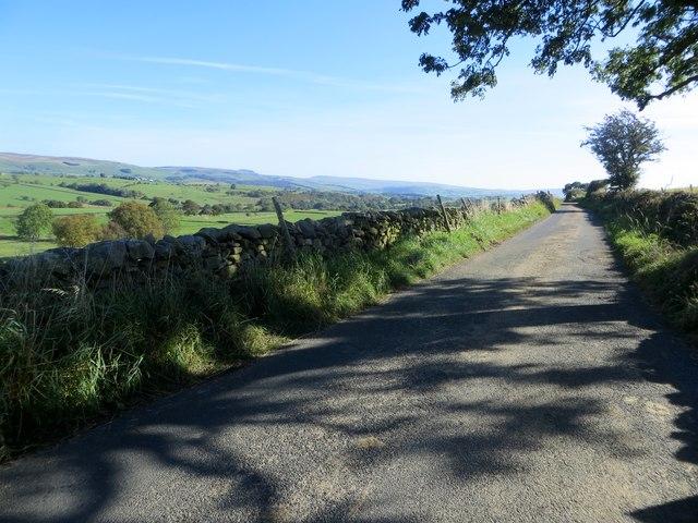 Mewith Lane near Mewith Head