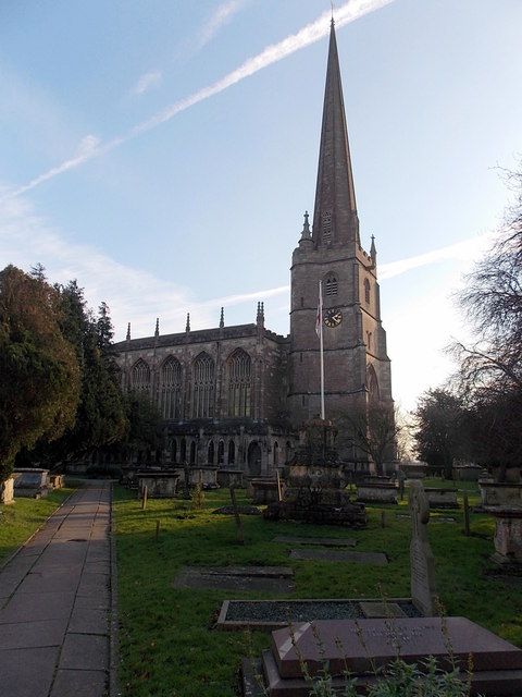 North side of a Grade I listed church in Tetbury