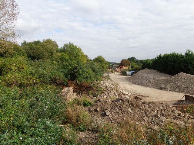 View of the old railway  trackbed  looking toward Haybridge