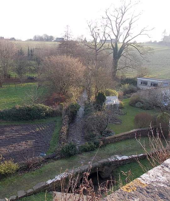 Small stone footbridge over a stream, Tetbury