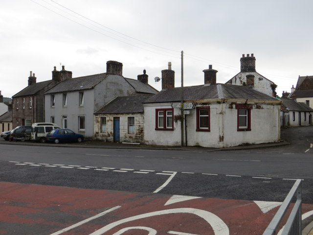 Junction of Academy Street and High Street in Ecclefechan