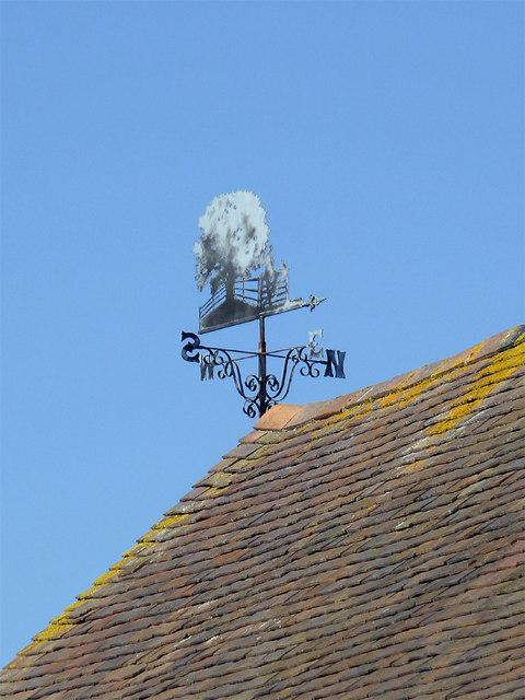 Weather vane at Catstree, Shropshire