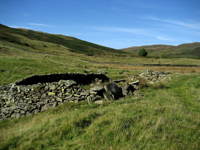 Ruined Sheepfold above Longsleddale
