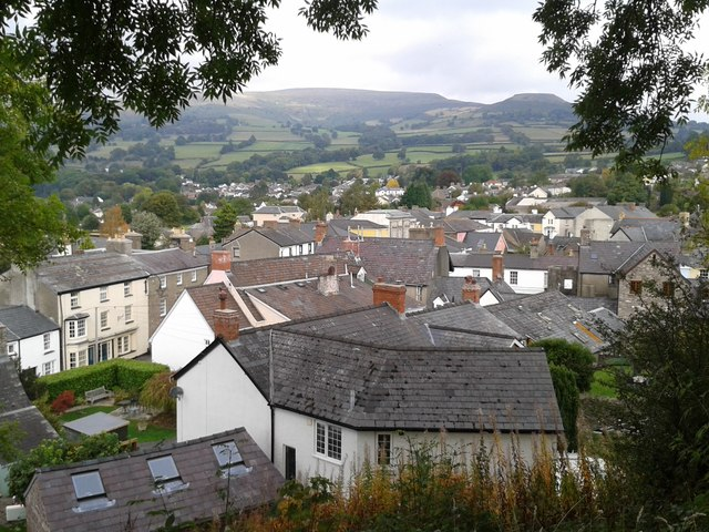Crickhowell seen from the castle ruins