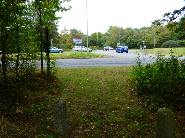 Bridleway reaches roundabout on the A30