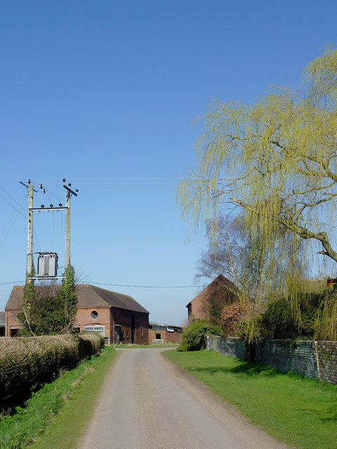 The lane at Catstree north of Worfield, Shropshire