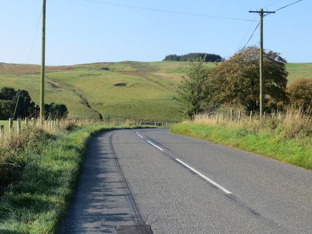 Road (B7068) descending from Standburn