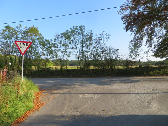 Road Junction at Scroggs