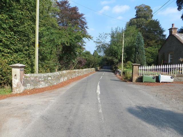 Road (B723) at Balgray House Lodge