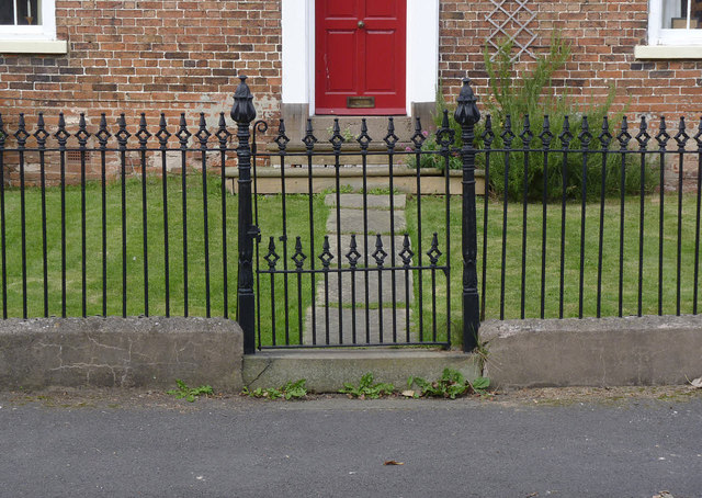 Railings and gate at Crown Cottage
