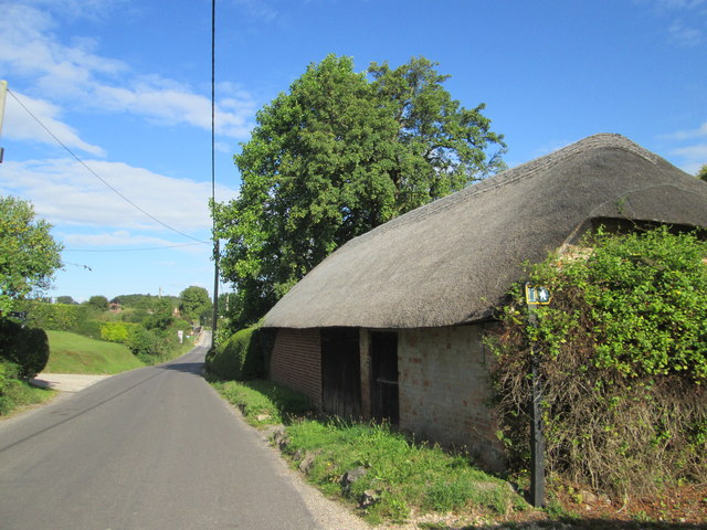 Thatched roof at Bedwyn