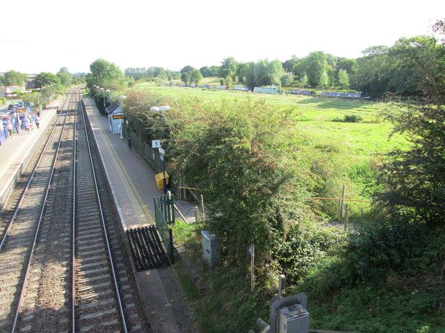 View from a bridge at Bedwyn Railway Station