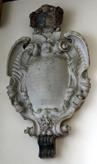St Martin, East Horsley - Wall monument