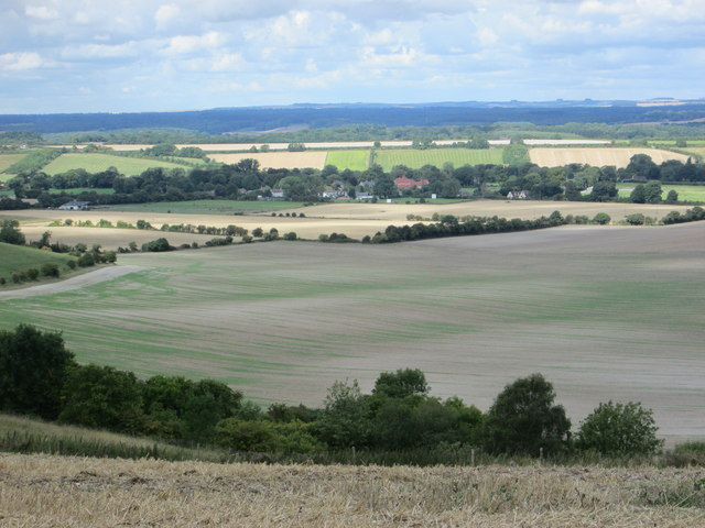Distant view of Shalbourne from Ham Hill