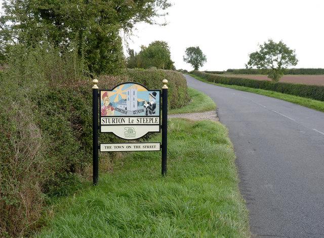 Sturton le Steeple village sign
