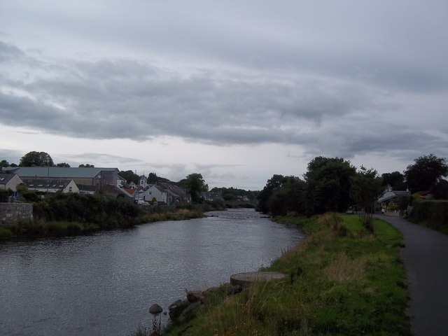 Looking up the River Cree in Newton Stewart