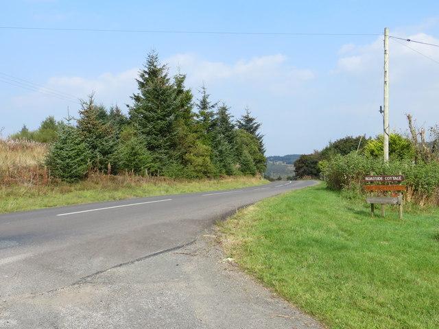 Road (B723) at Roadside Cottage
