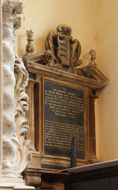 St Mary West Horsley - Wall monument